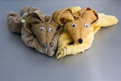 Mouses de la toalla Fotografía de archivo libre de regalías