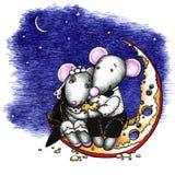 Mouses dulces novia y novio stock de ilustración