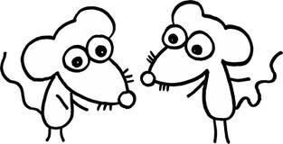 Mouses pequenos loucos Fotografia de Stock