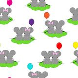 Mouses repetition Royalty Free Stock Images