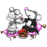 Mouses svegli nell'amore Immagini Stock Libere da Diritti