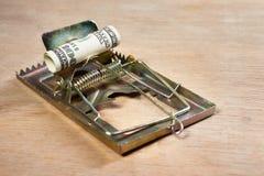 mousetrap дег приманки Стоковое Изображение