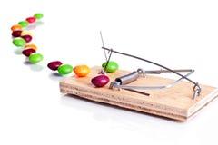 mousetrap конфет Стоковые Фото