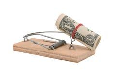 mousetrap одно доллара стоковая фотография