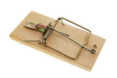 Mousetrap. On Isolated White Background Royalty Free Stock Image
