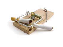 Mousetrap. Wooden mousetrap. The photo contains Clipping Path Royalty Free Stock Photo