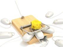 Mousetrap auf lan-Kanal Lizenzfreie Stockfotografie
