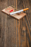 Mousetrap and cigarette Stock Image