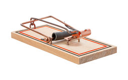 Mousetrap (with clipping path) Stock Images