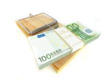 Mousetrap com euro Foto de Stock