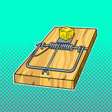 Mousetrap comic book style vector illustration Stock Photography