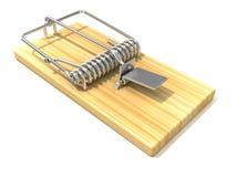 Mousetrap, 3D render Stock Images