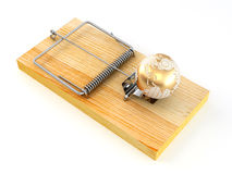 Mousetrap with earth Royalty Free Stock Photo