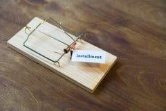 mousetrap Fall inte för betet Alltid funderare om följderna Arkivbilder