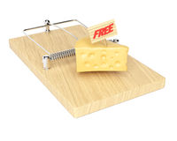 Mousetrap with free cheese Stock Images