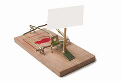 Mousetrap with free empty sign Stock Photography