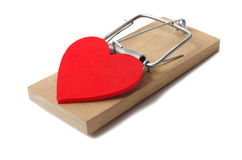 Mousetrap with heart Stock Photo