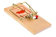 Mousetrap i pigułka Zdjęcie Stock