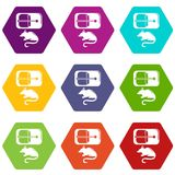 Mousetrap icons set 9 vector Royalty Free Stock Photography