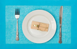 Mousetrap meal Royalty Free Stock Image