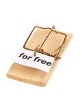 Mousetrap mit für freiem Kennsatz Stockbild