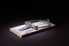 Mousetrap Na zmroku Zdjęcia Royalty Free