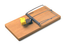 Mousetrap Over White Royalty Free Stock Photos