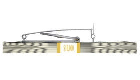 Mousetrap on a pack of money. Business concept stock image