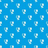 Mousetrap pattern vector seamless blue Royalty Free Stock Images