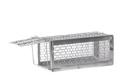 Mousetrap (rat cage) isolated Royalty Free Stock Image
