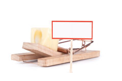 Mousetrap with signboard Royalty Free Stock Photography
