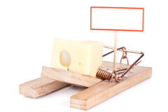 Mousetrap with signboard Stock Photos