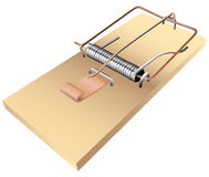 Mousetrap. The standard mousetrap to kill small rodents. Vector illustration Royalty Free Stock Photography