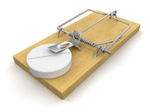 Mousetrap and Tablet (clipping path included) Royalty Free Stock Photo