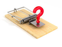 Mousetrap on white background.  3D Royalty Free Stock Photo