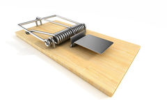 Mousetrap on white background.  3D Royalty Free Stock Images