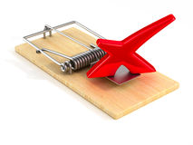 Mousetrap on white background. Isolated 3D Stock Photo
