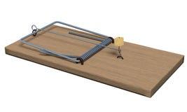 Mousetrap on white Stock Photo
