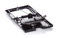 Mousetrap z papierosem Obraz Stock