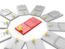 Mousetraps Royalty Free Stock Photography