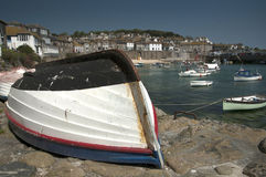 Moushole Harbour 2. Mousehole Village Harbour Cornwall England Royalty Free Stock Photography