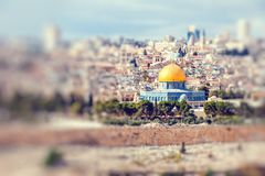 Mousque of Al-aqsa Dome of the Rock in Old Town - Jerusalem, Israel Royalty Free Stock Photography