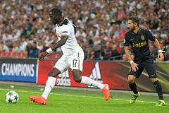 Moussa Sissoko. Football players pictured during the 2016/17 UEFA Champions League Group E game between Tottenham Hotspur and AS Monaco on September 14, 2016 at Stock Image