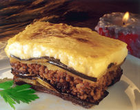 Freshly baked Moussaka Royalty Free Stock Photography