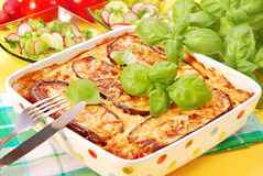 Moussaka with aubergine Royalty Free Stock Image