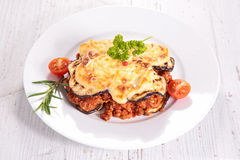 Moussaka with beef, Stock Photo
