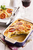 Moussaka in Casserole Dish Royalty Free Stock Photos