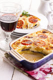 Moussaka in Casserole Dish Royalty Free Stock Images