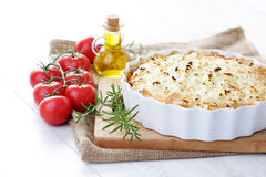 Moussaka. Delicious homemade moussaka - food and drink royalty free stock photography