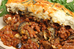 Moussaka Dinner Meal Stock Image